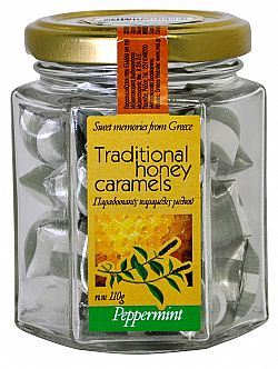 Traditional honey candies with mint 110gr