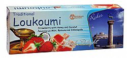 Loukoumi with honey - strawberry and coconut 130gr