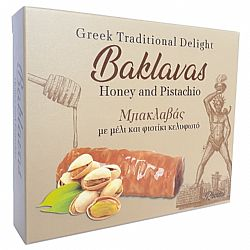 Baklavas with honey and pistacchio 110-120gr