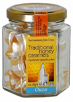 Traditional Honey Candies Ouzo flavour 110gr