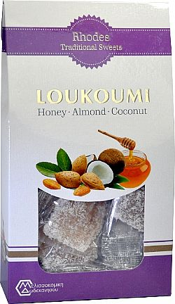 Loukoums with honey almonds and coconut 250gr