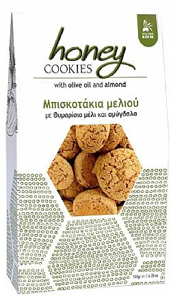Thyme honey cookies with olive oil and almonds